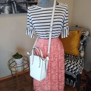 Forever 21 lace midi skirt